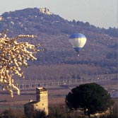 A survey in hotair ballon of the countryside around Uzes