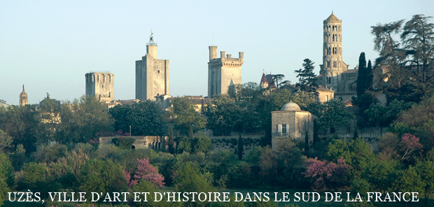 A view on the ducal city of Uzes and its towers